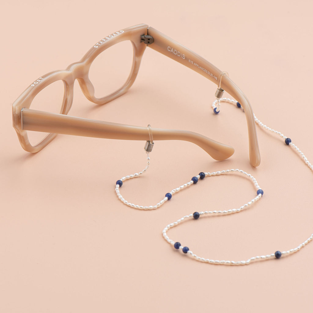 Shop Pearl and Semi Precious Eyewear Chain at Rose St Trading Co