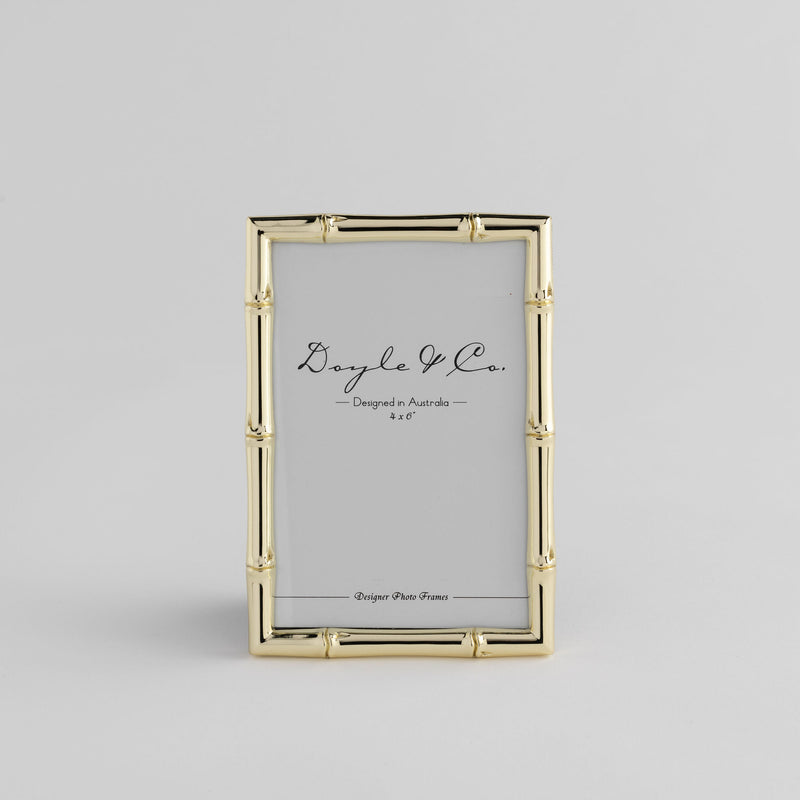 "Shop Frame - Bamboo - Gold 5 x 7"" at Rose St Trading Co"