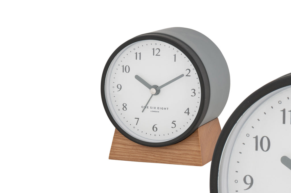 Shop Nina Alarm Clock Silent - Charcoal at Rose St Trading Co