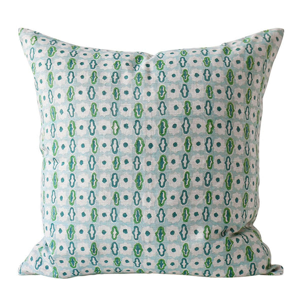 Shop Pahari Emerald Linen Cushion at Rose St Trading Co