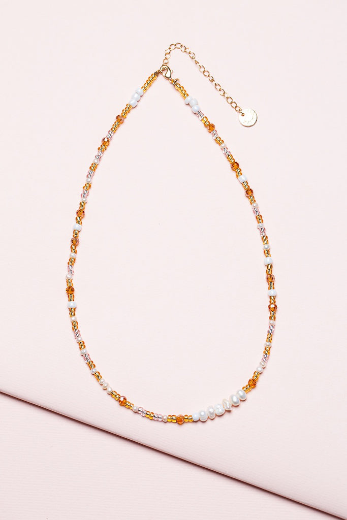 Shop Pearl Necklace - Amber at Rose St Trading Co