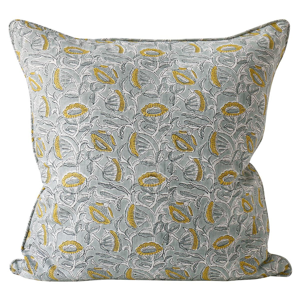 Shop Marbella Celadon Linen Cushion at Rose St Trading Co