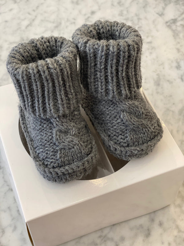 Shop Booties - Grey 0-3mth at Rose St Trading Co
