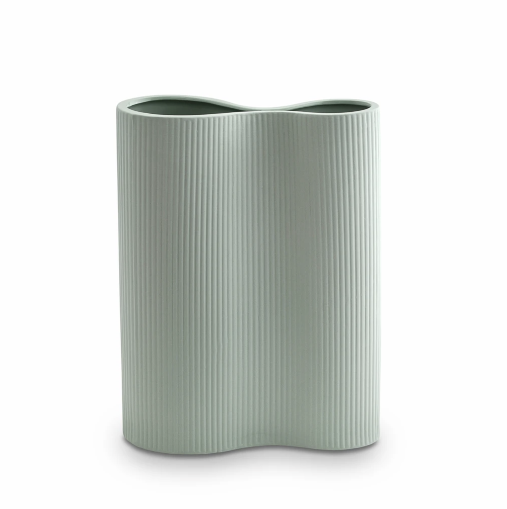 Shop Ribbed Infinity Vase Blue (M) at Rose St Trading Co