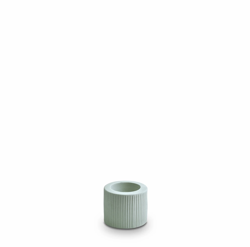 Shop Ribbed Infinity Candle Holder Blue (S) at Rose St Trading Co