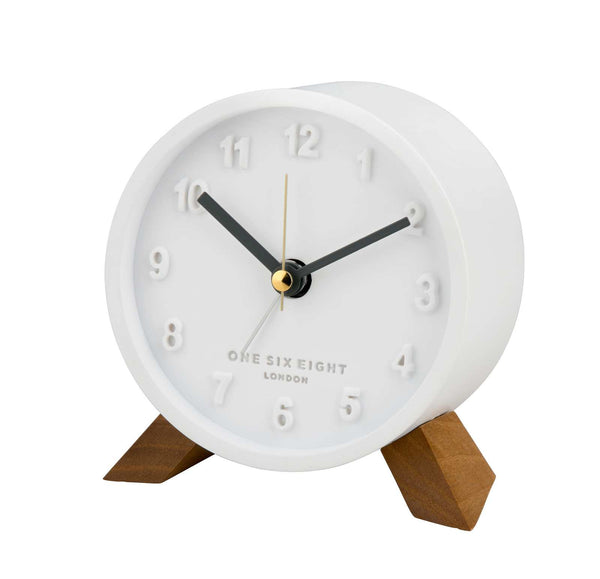 Shop Jasmine Alarm Clock - White at Rose St Trading Co