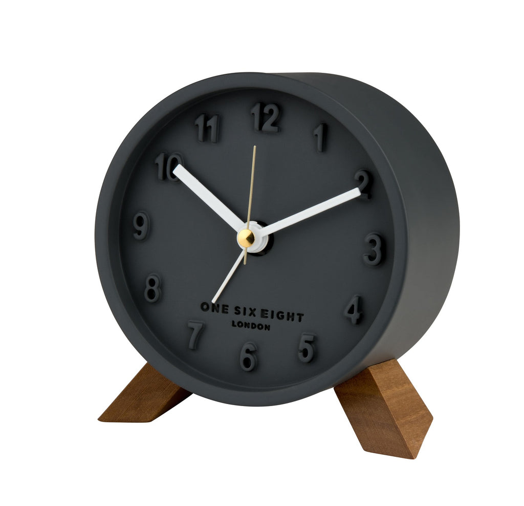 Shop Jasmine Alarm Clock - Charcoal at Rose St Trading Co