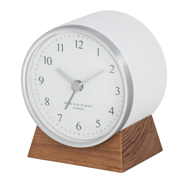 Shop Nina Alarm Clock Silent - White at Rose St Trading Co