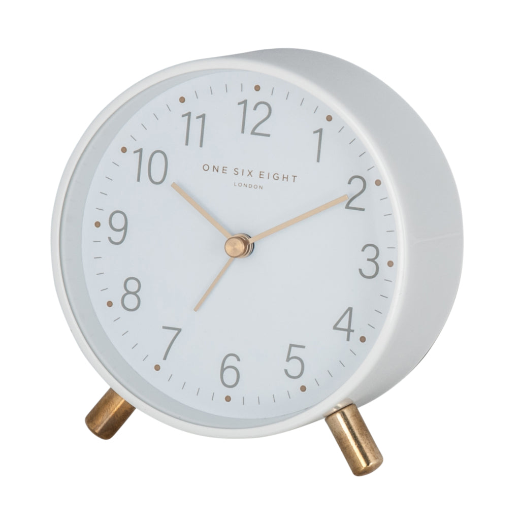 Shop Maisie White Alarm Clock at Rose St Trading Co