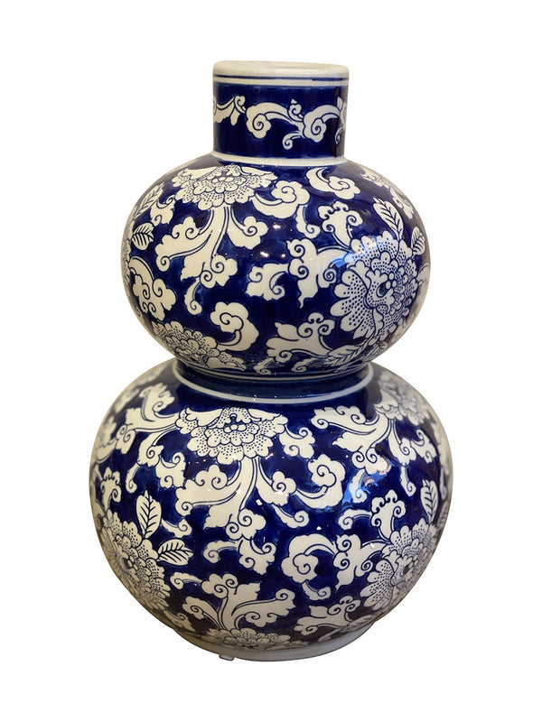 Shop Blue and White Double Gourd Vase - Botanic at Rose St Trading Co