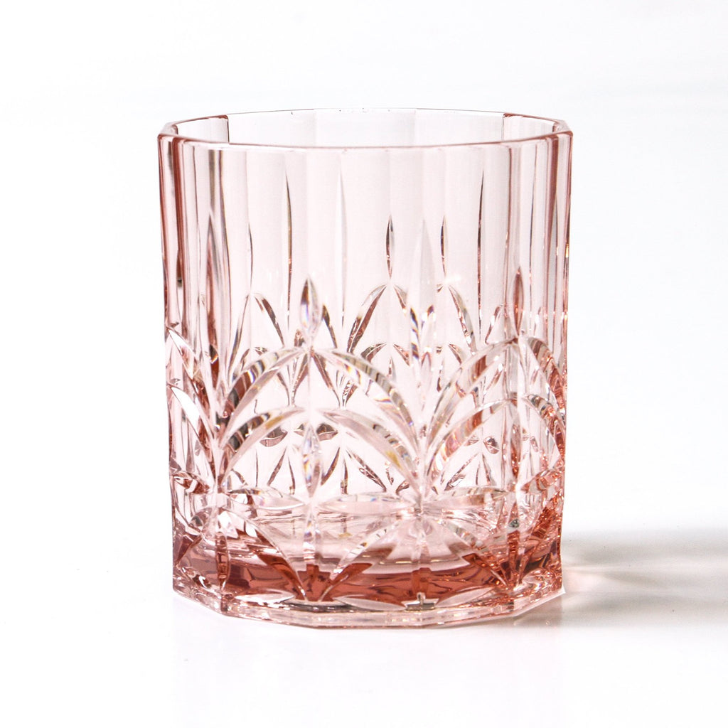 Shop Acrylic Crystal Cut Tumbler | Pale Pink at Rose St Trading Co