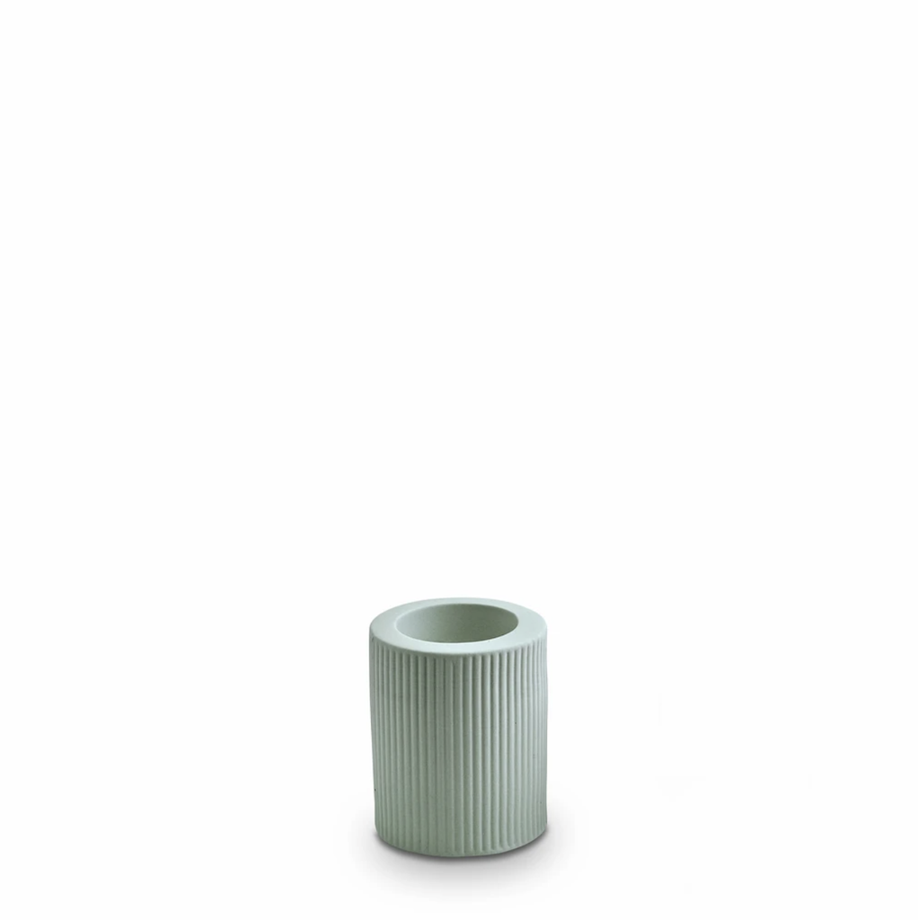 Shop Ribbed Infinity Candle Holder Blue (M) at Rose St Trading Co