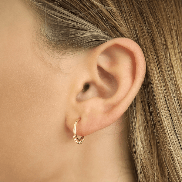 Shop Gold Cherish Hoop Earrings at Rose St Trading Co