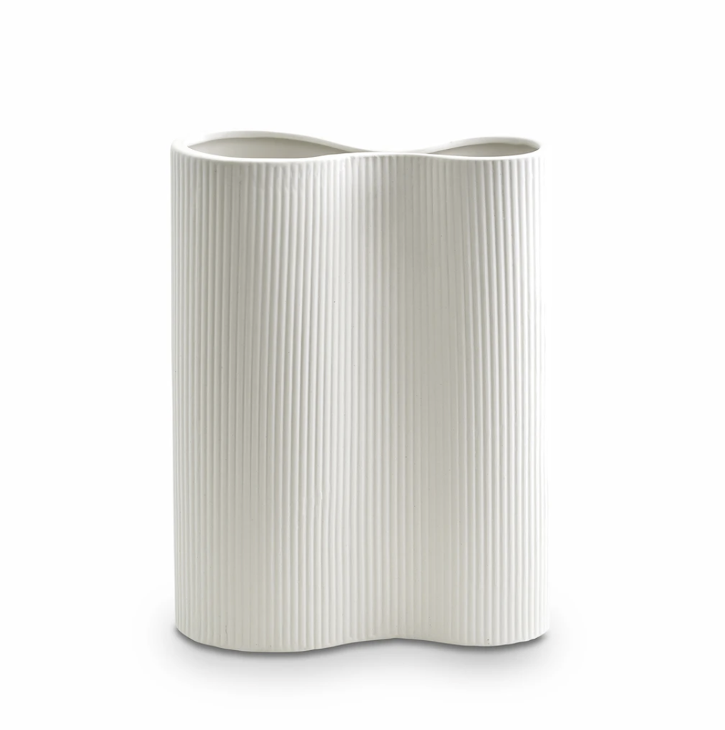 Shop Ribbed Infinity Vase Snow (M) at Rose St Trading Co