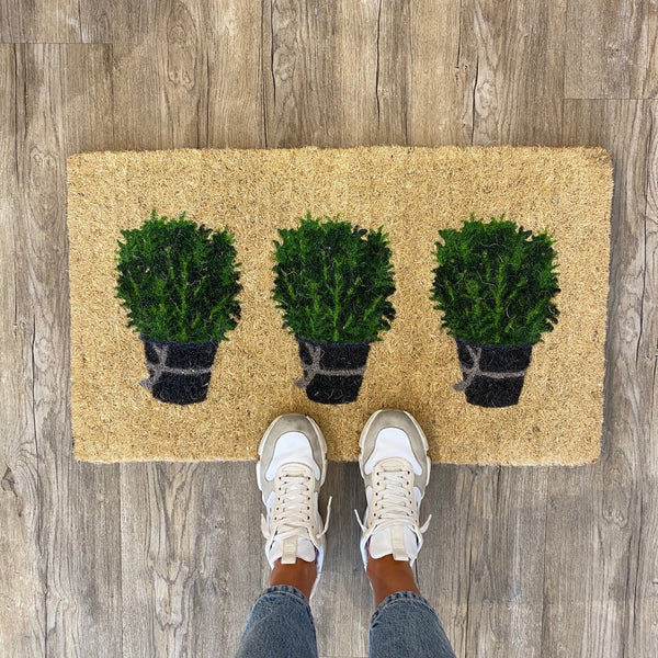 Shop Doormat - Rosemary Pots at Rose St Trading Co