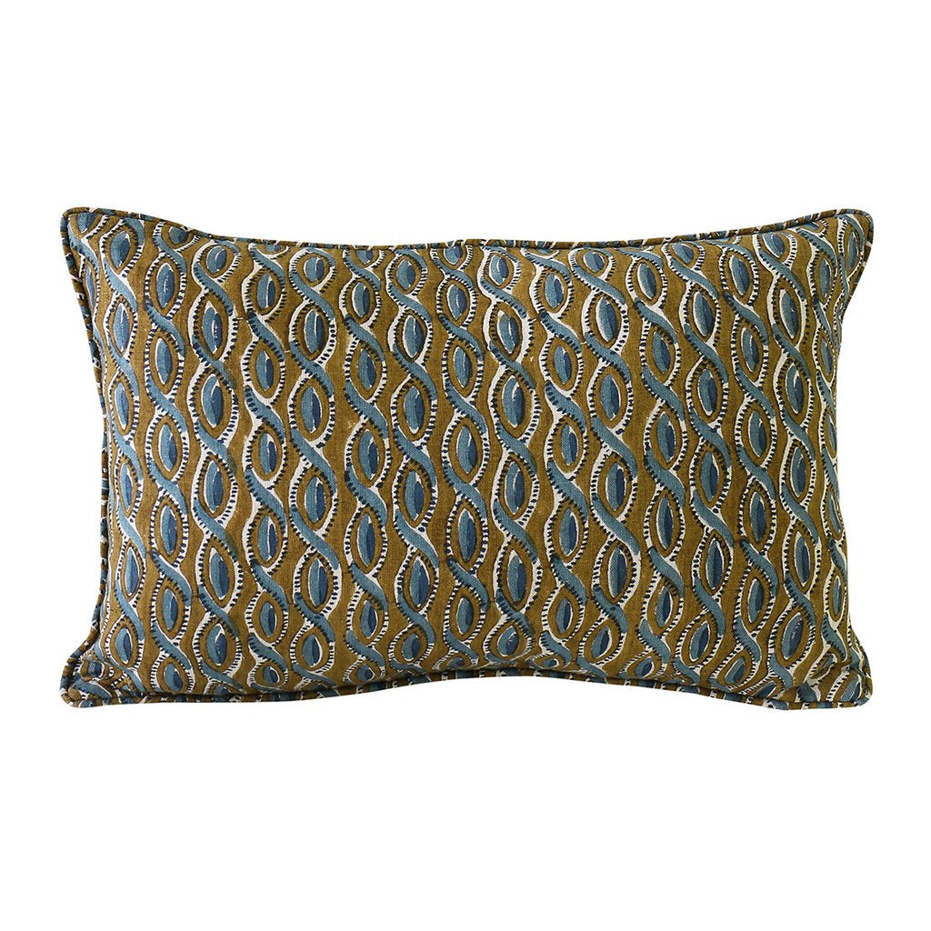 Shop Cefalu Tobacco Linen Cushion at Rose St Trading Co