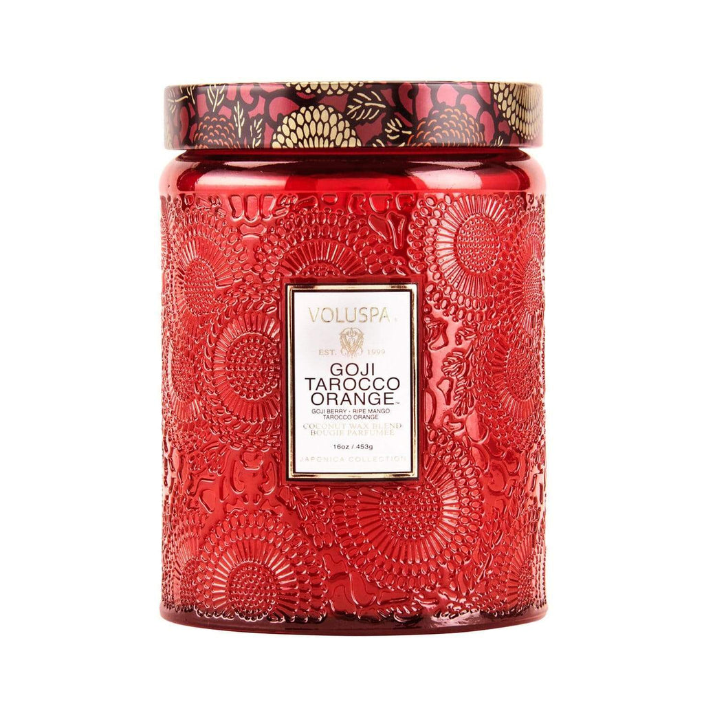 Shop Goji Tarocco Orange 100hr Candle at Rose St Trading Co
