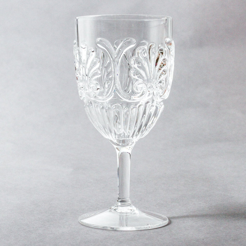 Shop Acrylic Wine Glass Scollop | Clear at Rose St Trading Co