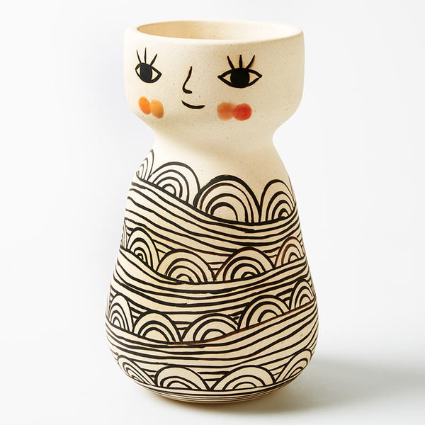Shop Miss Cozette Vase- PRE ORDER FOR MAY DELIVERY at Rose St Trading Co