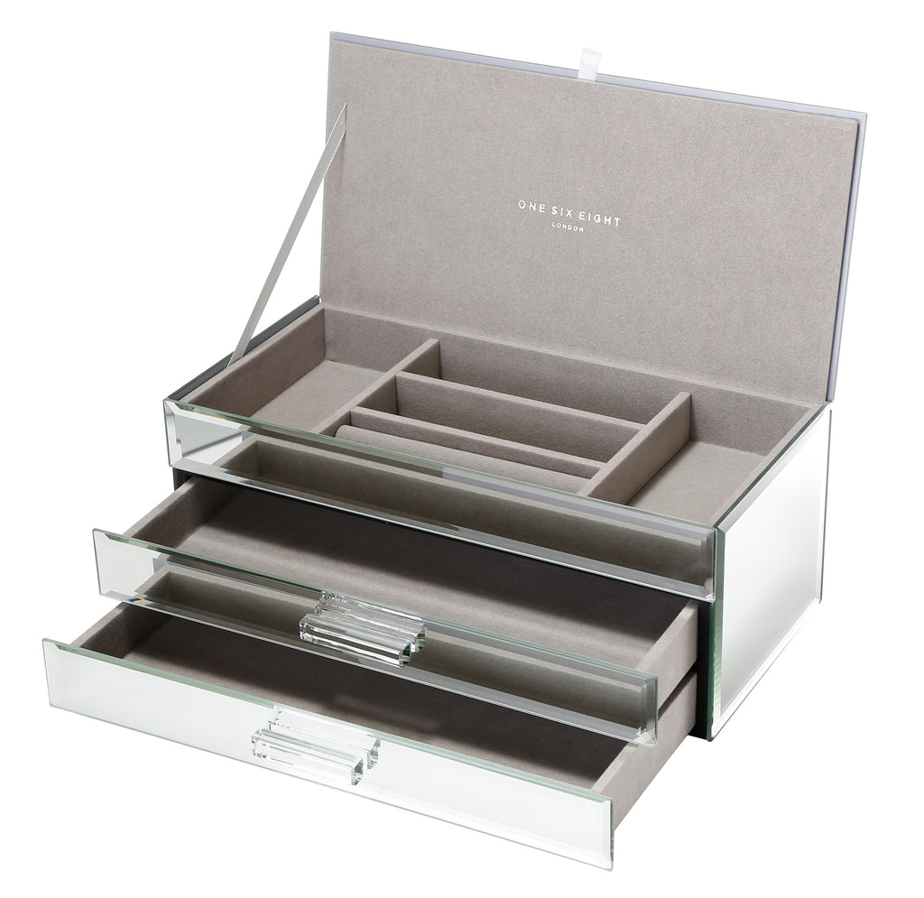 Shop Jewellery Box - Mirror Glass Large at Rose St Trading Co