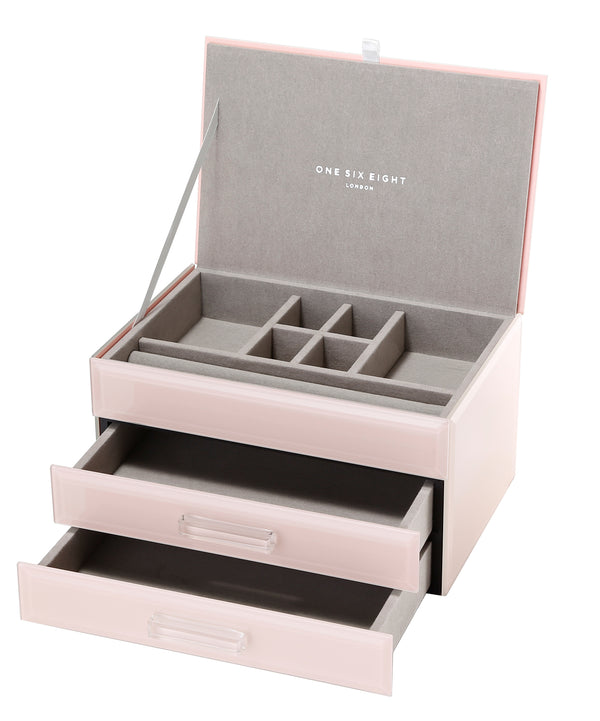 Shop Jewellery Box - Blush Glass Medium at Rose St Trading Co