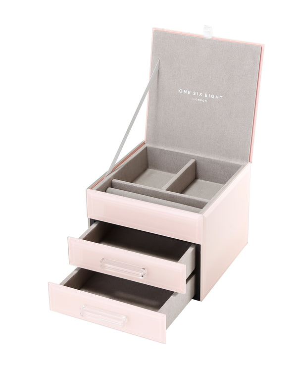 Shop Jewellery Box - Blush Glass Small at Rose St Trading Co