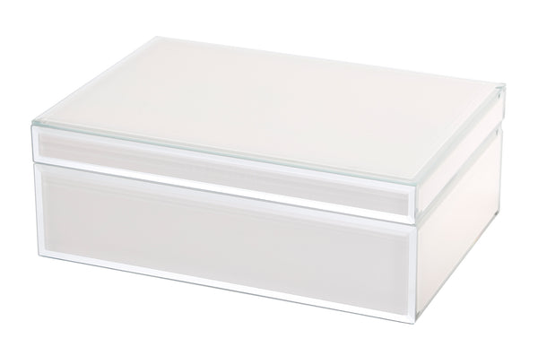 Shop Jewellery Box -Off White Glass at Rose St Trading Co