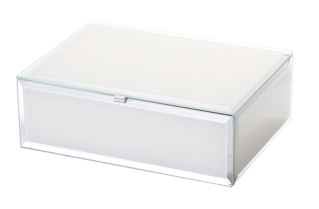 Shop Jewellery Box - Sara Off White Glass Medium at Rose St Trading Co
