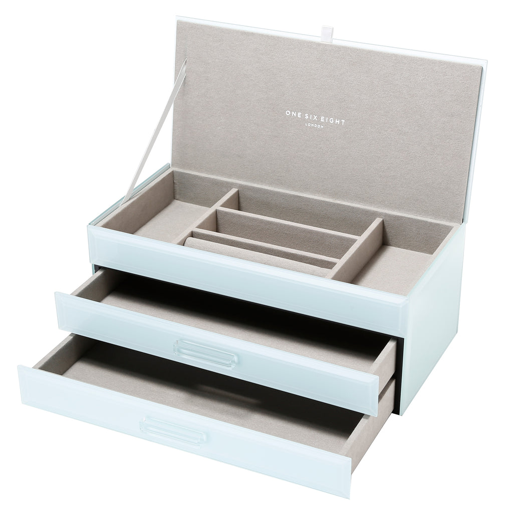 Shop Jewellery Box -Mint Glass Large at Rose St Trading Co