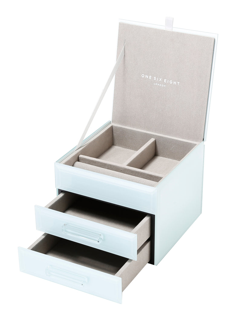 Shop Jewellery Box -Mint Glass Small at Rose St Trading Co