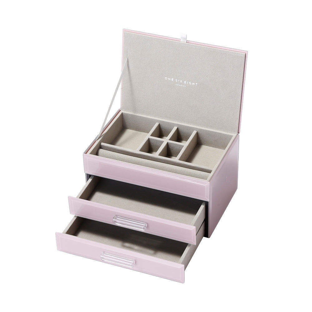 Shop Jewellery Box Medium - Glass Dusty Rose at Rose St Trading Co