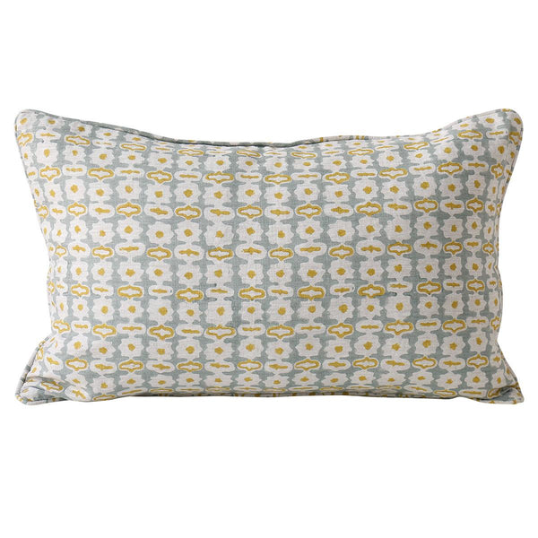 Shop Pahari Celadon Linen Cushion at Rose St Trading Co