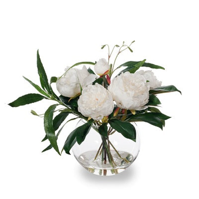Shop Peony Ruellia Mix in Vase | White at Rose St Trading Co