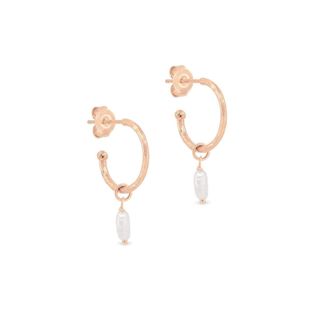 Shop Rose Gold Eternal Peace Hoops at Rose St Trading Co