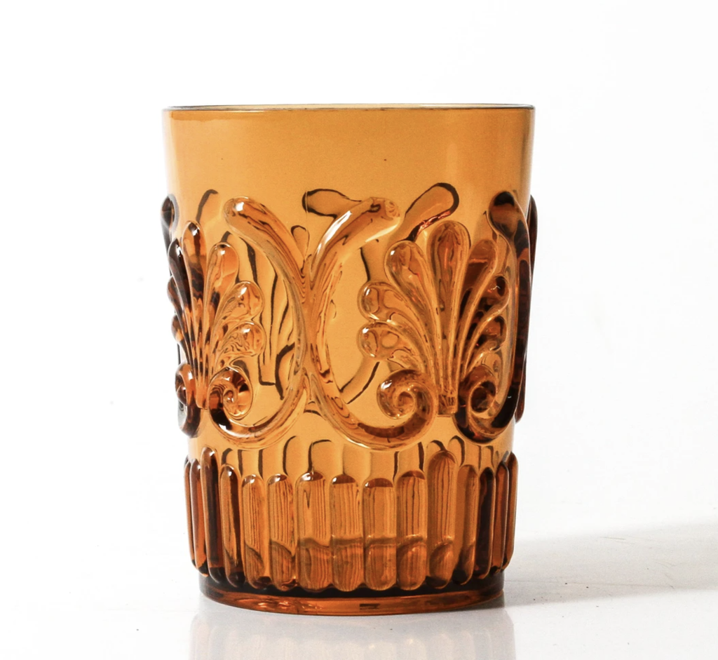 Shop Acrylic Tumbler Scollop | Amber at Rose St Trading Co