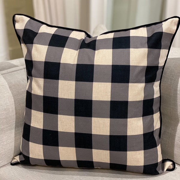 Shop Black Check Cushion at Rose St Trading Co