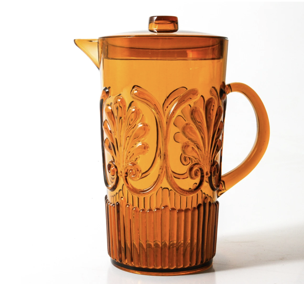 Shop Acrylic Scollop Des Pitcher | Amber at Rose St Trading Co