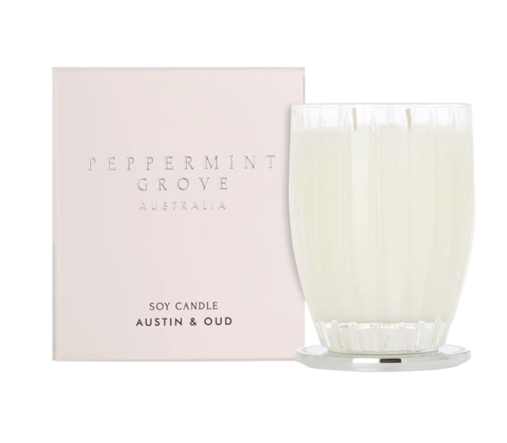 Shop Austin + Oud | Small Candle at Rose St Trading Co