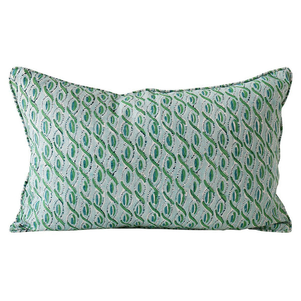 Shop Cefalu Emerald Linen Cushion at Rose St Trading Co
