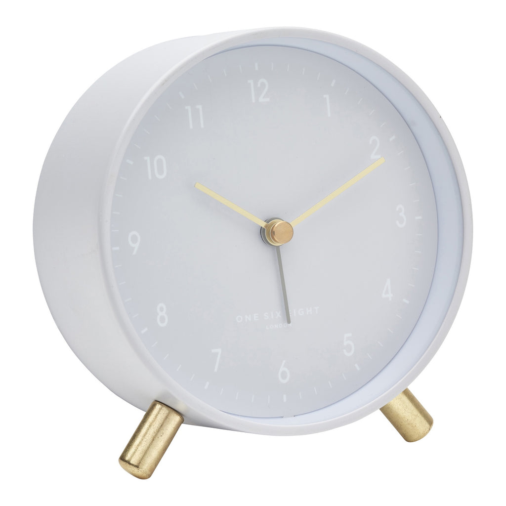 Shop Alana Cool Grey Silent Alarm Clock at Rose St Trading Co