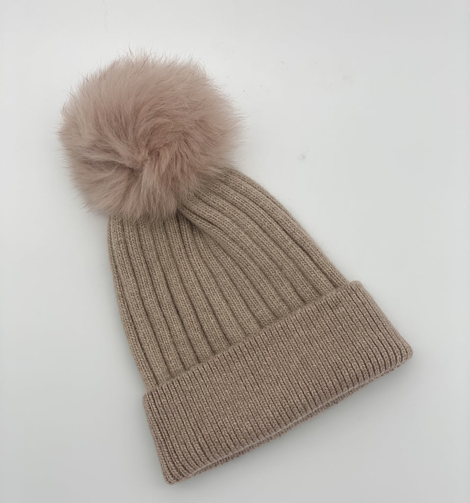 Shop Ribbed Beanie | Dusty Pink at Rose St Trading Co