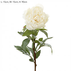 Shop Peony Spray 90cm White at Rose St Trading Co