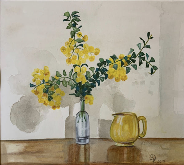 Shop Sadler Jug with Yellow Pom Poms at Rose St Trading Co