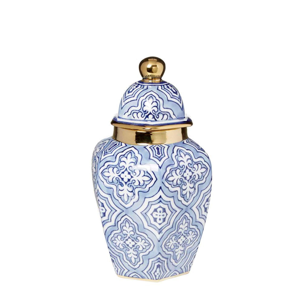 Shop Tangier Ginger Jar | 25cm Blue + White at Rose St Trading Co