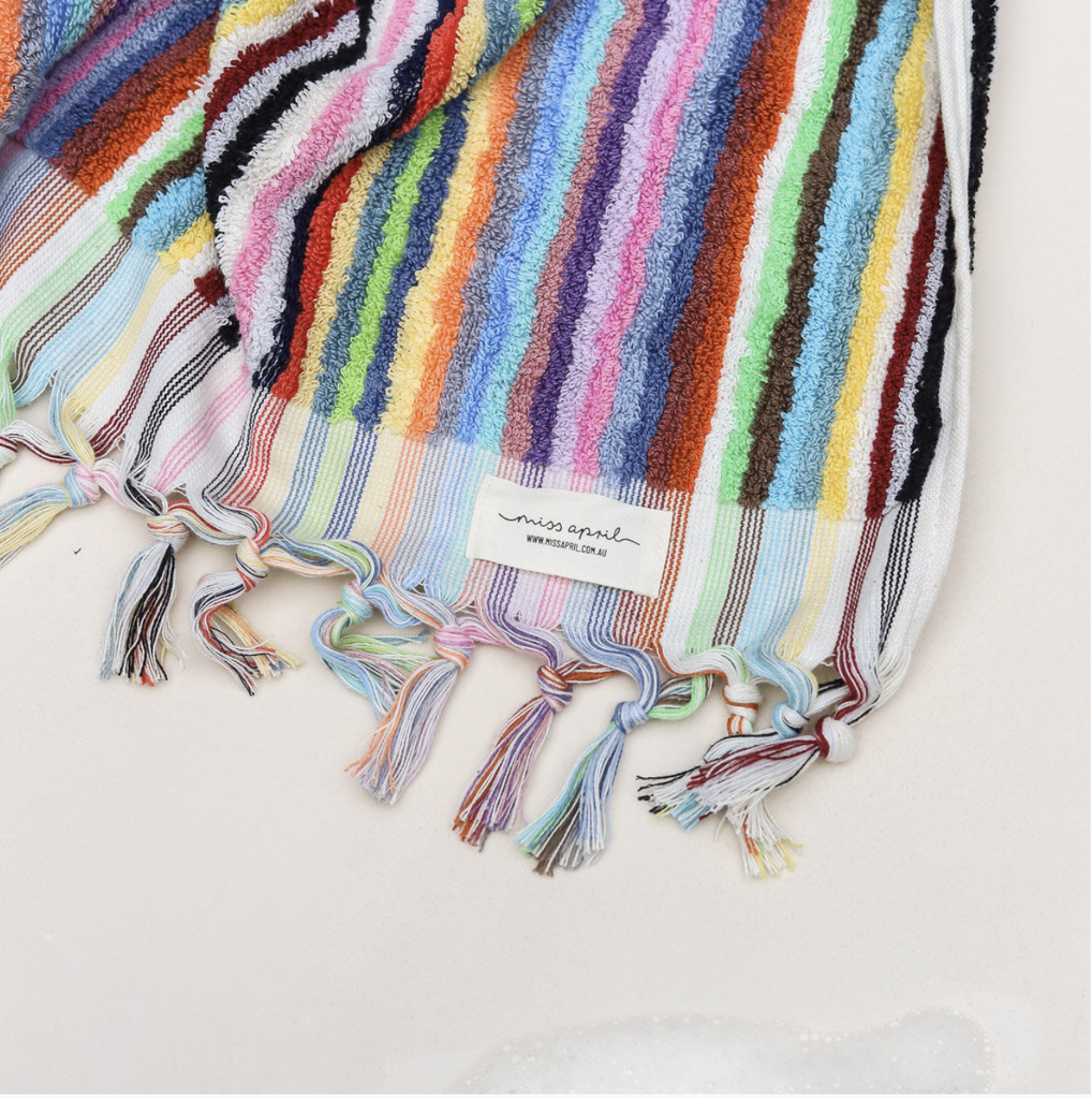 Shop Hand Towel - Multicoloured Stripe at Rose St Trading Co