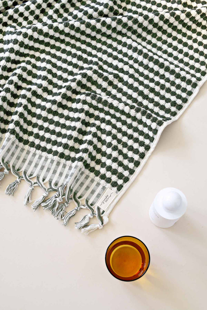 Shop Pom Pom Hand Towel | Khaki at Rose St Trading Co