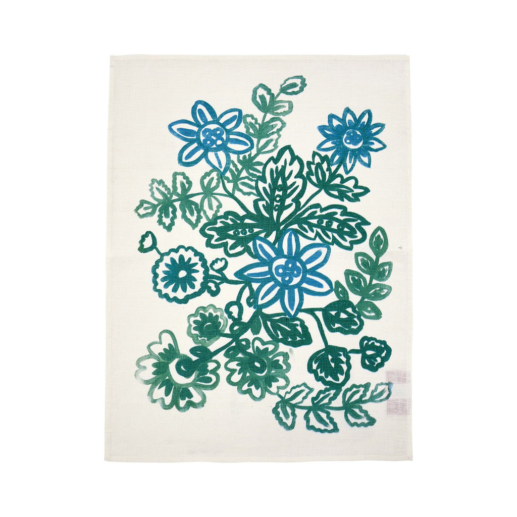 Shop Chintz Green Tea Towel at Rose St Trading Co