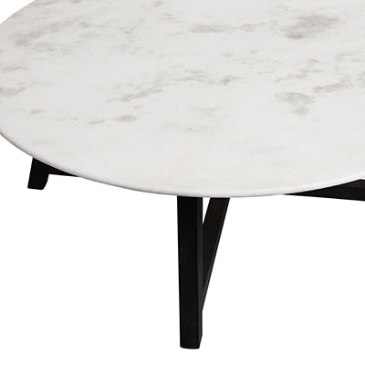 Shop Marble Round Coffee Table Belmont at Rose St Trading Co