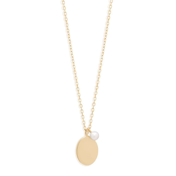14k Gold Peaceful Moon Necklace