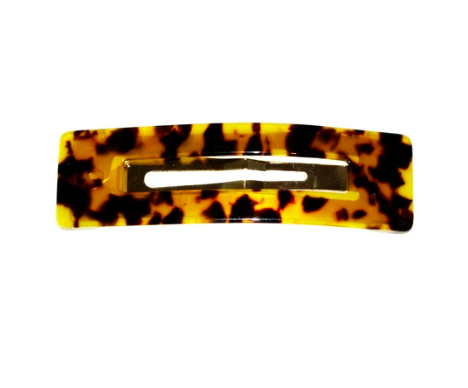 Shop Hair Clip | Large Rectangle Dark Tortoise at Rose St Trading Co